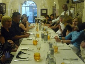 Sentieri members out at dinner